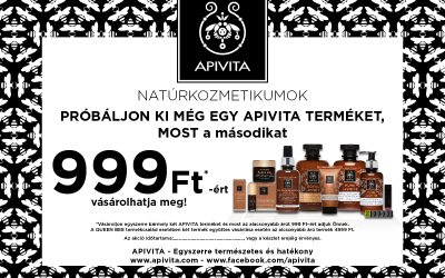 APIVITA Natúrkozmetikum bevezető akció 999Ft