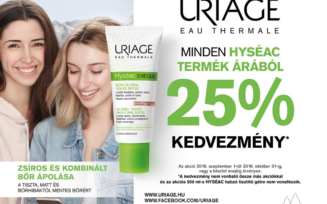 Uriage HYSÉAC termékek -25%