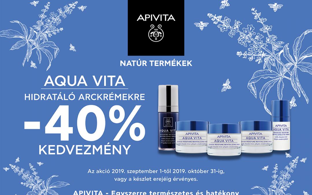 Apivita Aqua Vita hidratáló arckrémek -40%