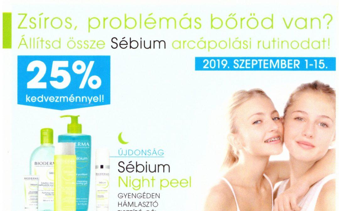 Bioderma – Sébium termékek 25% kedvezménnyel
