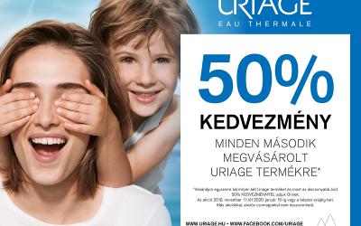 Uriage második termék -50% kedvezménnyel