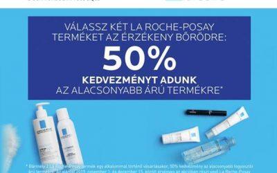 La Roche-Posay második termék -50% kedvezménnyel